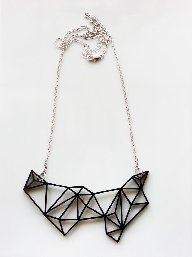 Geometric necklace by iluxo on Etsy