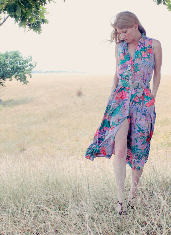 Vintage 90s Long Floral Dress from Ruby Chic Boutique