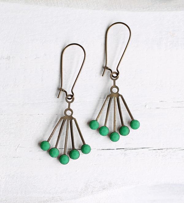 Art Deco Modernist Earrings from Silk Purse, Sow's Ear Vintage Jewelry