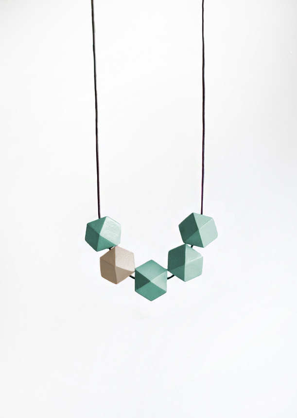 Geometric necklace in turquoise by BlueBird