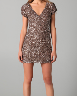 Cluster Beaded V Neck Dress by Parker