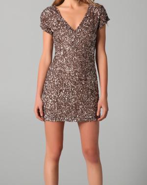 Cluster Beaded V Neck Dress by Parker
