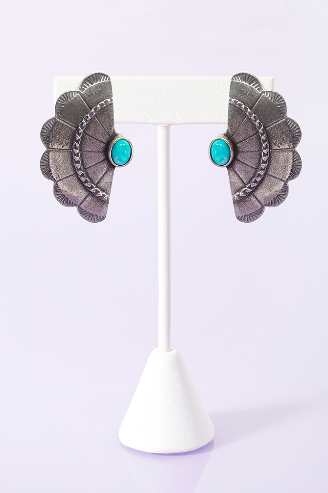 Concho Wing Earrings by The 2 Bandits