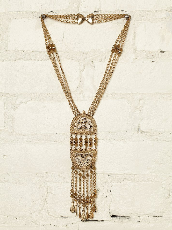 Vintage 1960s Gold Plated Necklace from Free People
