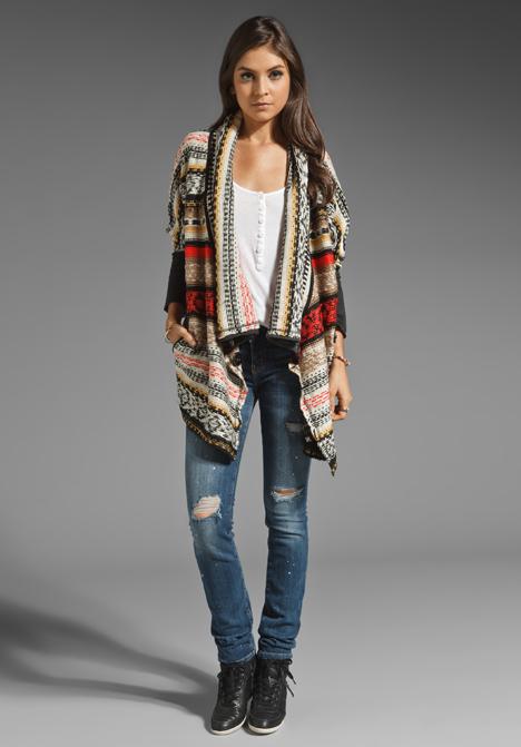 Kingsley Aztec Terry Sweater by BB Dakota