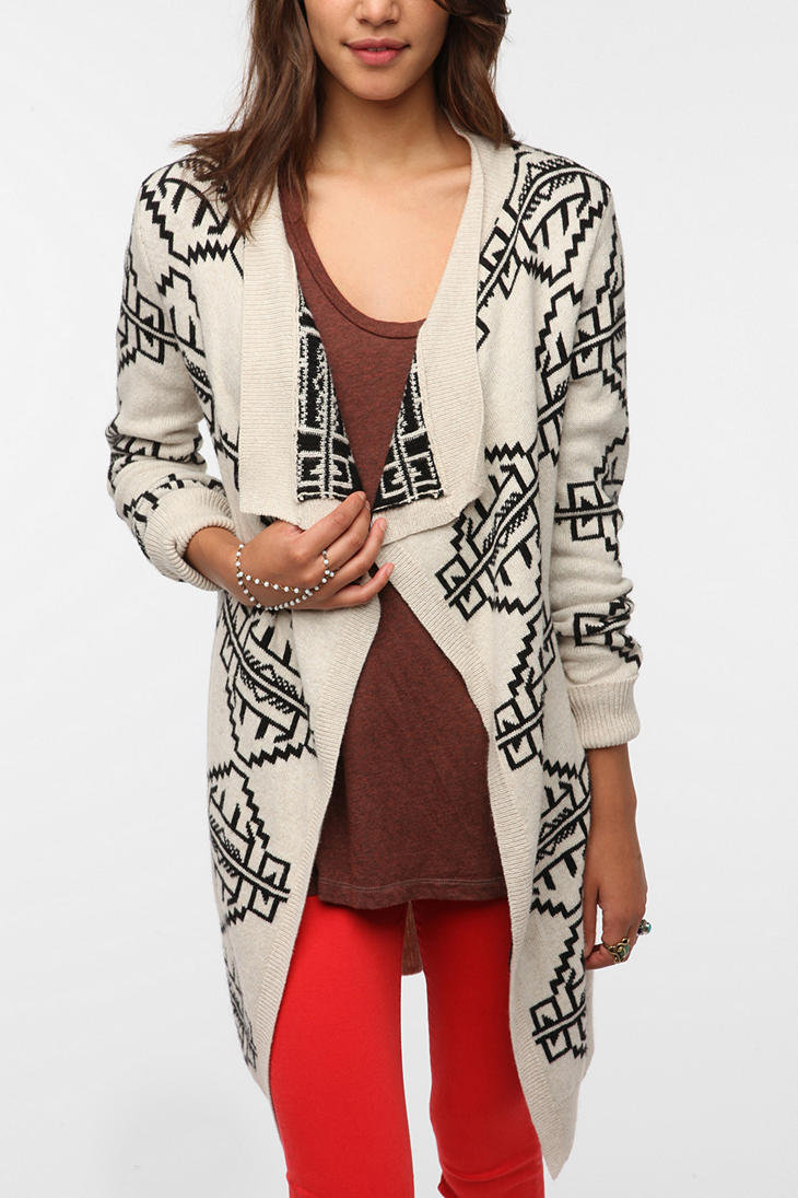 Staring At Stars Reversible Intarsia Knit Cardigan from Urban Outfitters