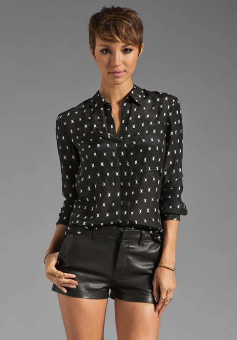 Silk Dobby Durlia Blouse by Theory