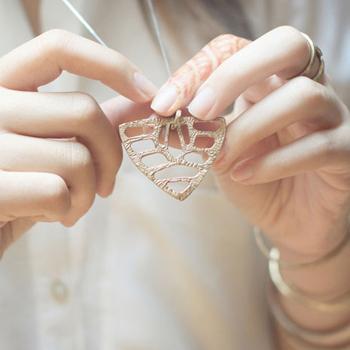 Shield Necklace by Odette NY