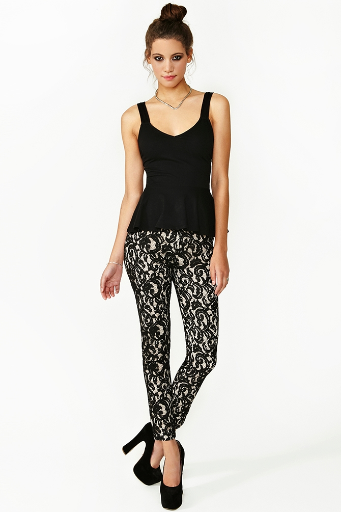 Panther Lace Pants from Nasty Gal