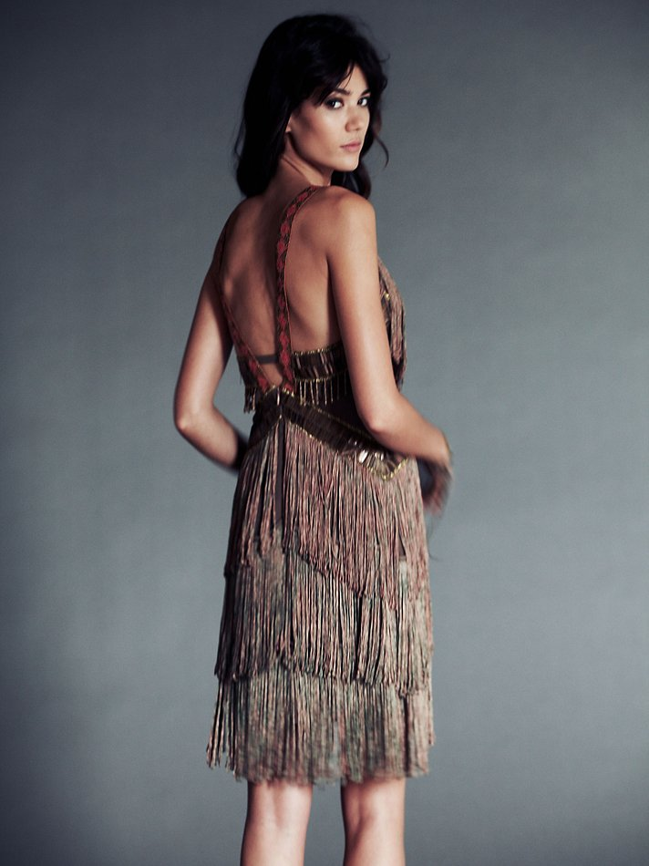 Fire Circle Fringe Dress from Free People