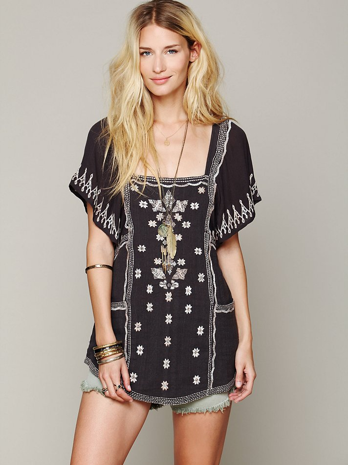 Damrak Embroidered Tunic by Free People