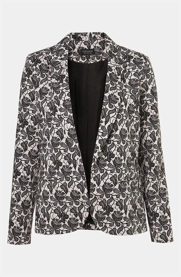 Lace Blazer by Topshop