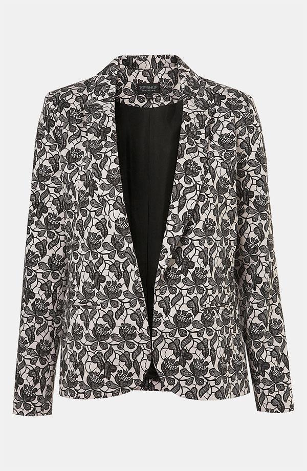 Lace Blazer by Topshop