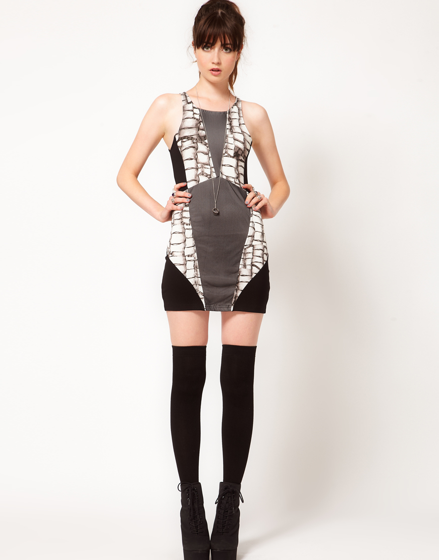 'All That Remains' Panelled Mini Dress by Evil Twin